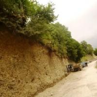 ზუგდიდი-ჯვარი-მესტია-ლასდილის ს/გზის 135-ე კმ-ზე ზედა საყრდენი კედლის მოწყობის სამუშაოები
