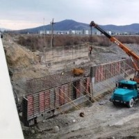 სვენეთი-რუისის მონაკვეთი. ხიდები მდ. ლიახვზე - სარეგულაციო კედლების მშენებლობა