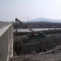 მდ.ლიახვზე სარეგულაციო კედლების მშენებლობა